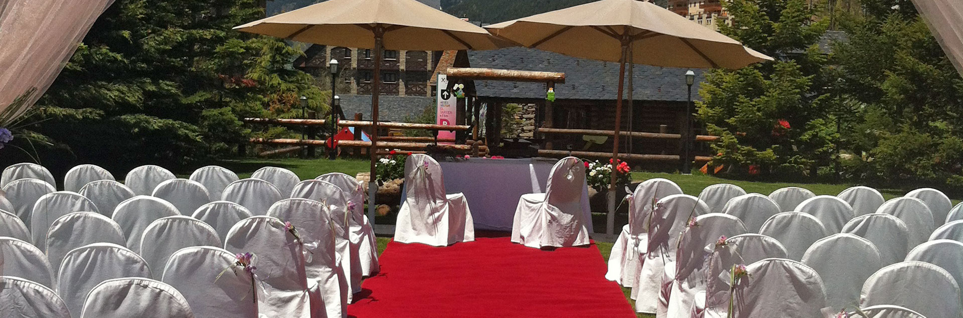 Preparation of the spaces for civil weddings