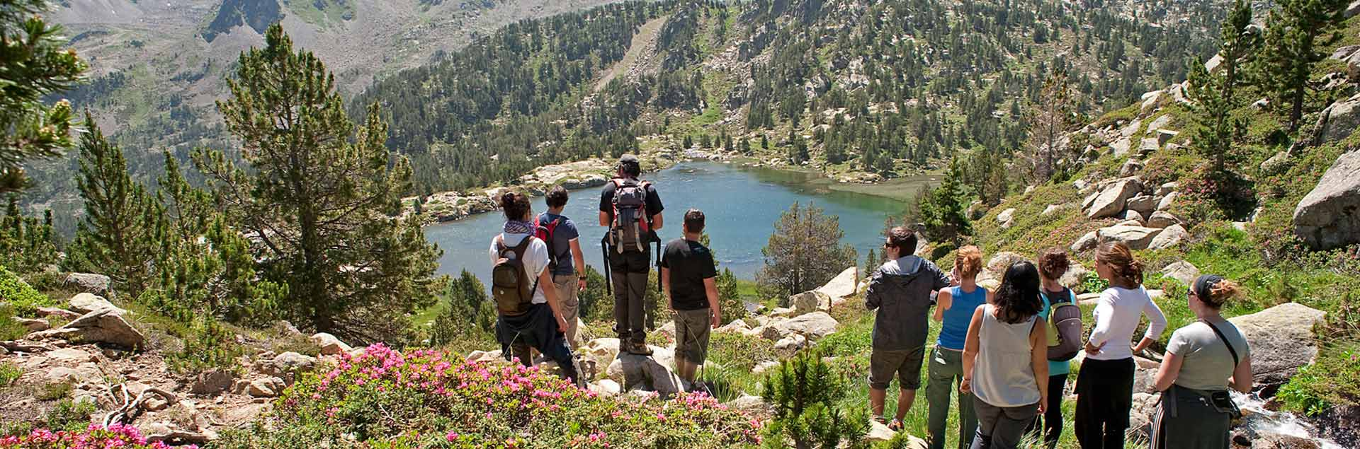 Mountain lakes in summer in Andorra