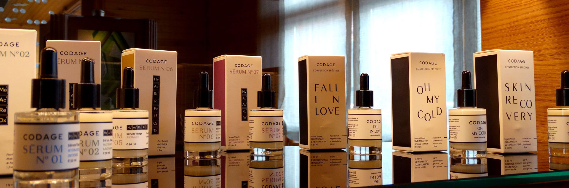 Beauty promotion treatments: Valmont, Payot, Codage